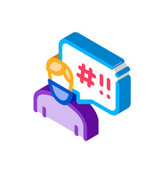 Masked man requirements isometric icon vector