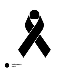 Melanoma ribbon vector