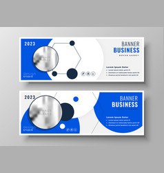 modern professional blue business presentation vector image