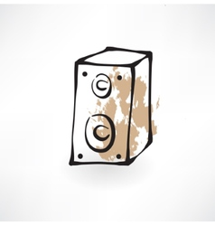 music column grunge icon vector image