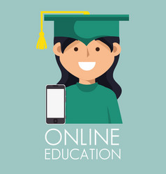 On line education with graduated avatar vector