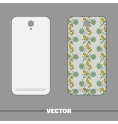 Phone Cover Blue Flowers vector