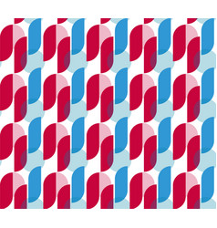 red and blue retro abstract seamless pattern vector image