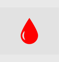 Red blood drop icon isolated on white background vector
