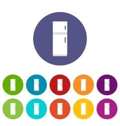 Refrigerator set icons vector