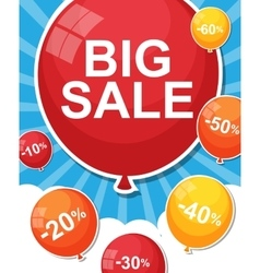 Sale Balloon Concept of Discount vector image