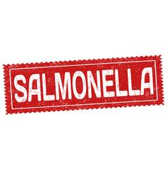Salmonella grunge rubber stamp vector