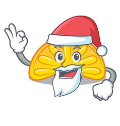 Santa orange jelly candy mascot cartoon vector