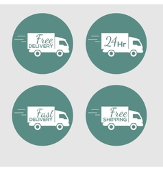Set icons with delivery car goods on vector