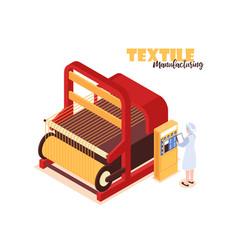 Textile factory concept vector