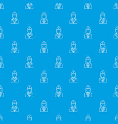 train conductor pattern seamless blue vector image