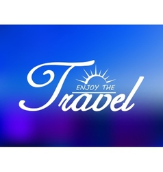 Travel header on blue sea background vector