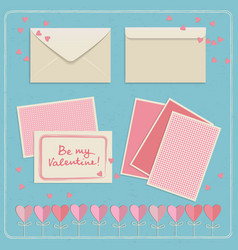 Valentines day envelopes set vector