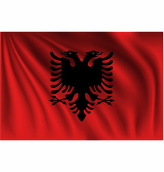 Waving albania vector