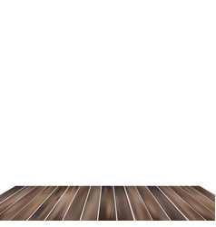 white background with wood flooring set vector image