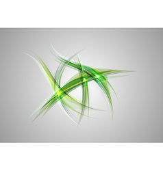 Abstract shapes on grey only green vector