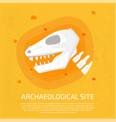 archaeological site dinosaur icon archaeological vector image
