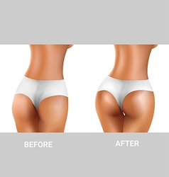 before and after buttocks exercise vector image