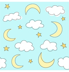 clouds background vector image