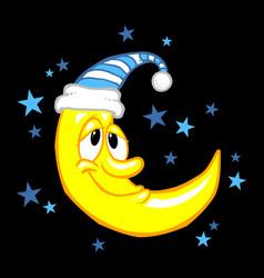 moon smiling cartoon vector image vector image