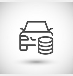 car rent line icon vector image