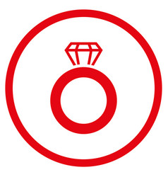 gem ring rounded icon vector image vector image