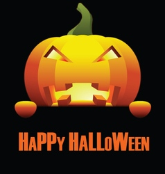 Happy Halloween with Isolated Angry Pumpkin vector image vector image