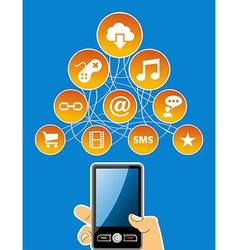 Mobility social media concept vector image vector image