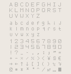 perforated font dotted point type vector image vector image