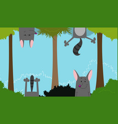 cute linear endless with fun wolf vector image vector image