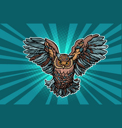 beautiful realistic owl in flight vector image