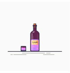 bottle of potion vector image