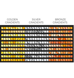 bronze gold and silver gradient set vector image