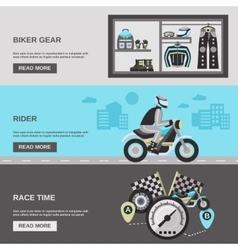 Rider Banner Set vector image vector image
