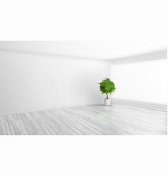 3d modern bright interior background vector image