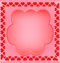 a frame of hearts with a field for text vector image