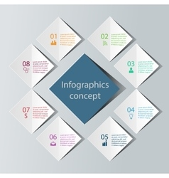 Abstract infographics concept vector image