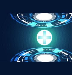 Abstract technology background concept health vector