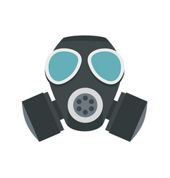 army gas mask icon flat style vector image