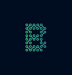 B circuit technology letter logo icon design vector