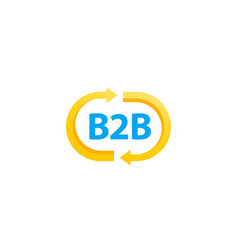 B2b commerce logo business concept vector