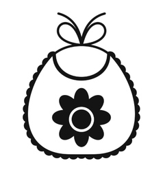 Baby bib icon simple style vector image