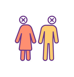Being on divorce verge rgb color icon vector