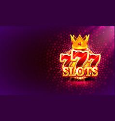 Big win slots 777 banner casino on red vector