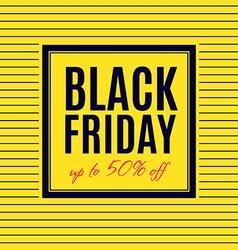 Black Friday Sale Poster design vector