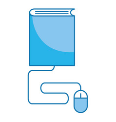 book and mouse vector image