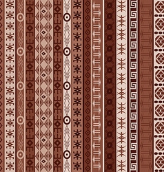 Brown carpet with african elements vector