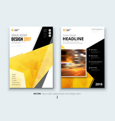 Business brochure or flyer design leaflet vector
