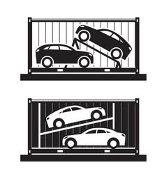 Car shipping container vector