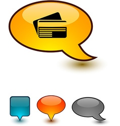 Card speech comic icons vector